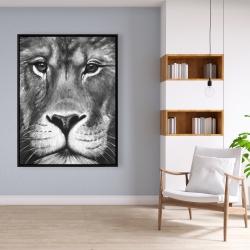 Framed 36 x 48 - Lion portrait
