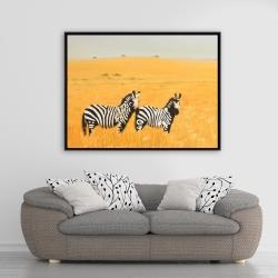 Framed 36 x 48 - Herd of zebra