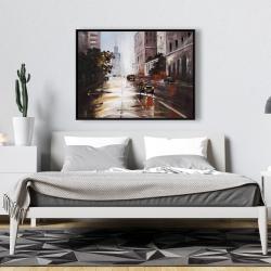 Framed 36 x 48 - Morning street scene