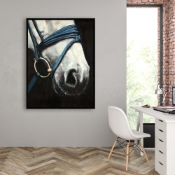 Framed 36 x 48 - Horse with harness