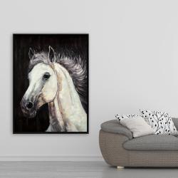 Framed 36 x 48 - White star horse
