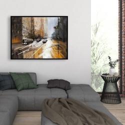 Framed 36 x 48 - Abstract city street