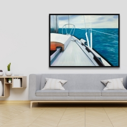 Framed 36 x 48 - Sail on the water