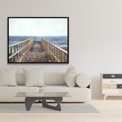 Framed 36 x 48 - Relaxing beach