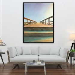 Framed 36 x 48 - Footbridge