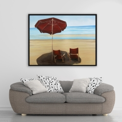 Framed 36 x 48 - Relax at the beach