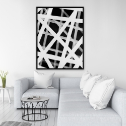 Framed 36 x 48 - Geometric stripes