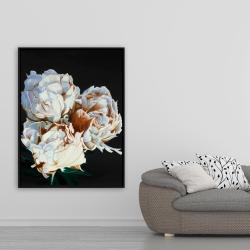 Framed 36 x 48 - Blooming peonies