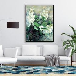 Framed 36 x 48 - White lilacs