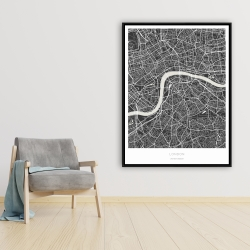 Framed 36 x 48 - Graphic map of london