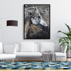 Framed 36 x 48 - Side of a wild horse