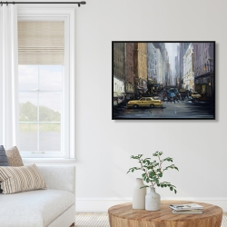 Framed 36 x 48 - In the city