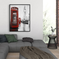 Framed 36 x 48 - Red phonebooth with the big ben