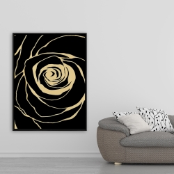 Framed 36 x 48 - Black rose