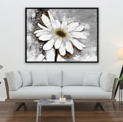 Framed 36 x 48 - Abstract daisy