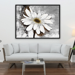 Framed 36 x 48 - Abstract daisy