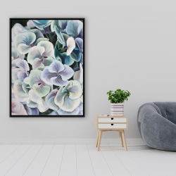 Framed 36 x 48 - Colorful hydrangea flowers