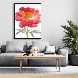 Framed 36 x 48 - Pink peony