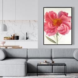 Framed 36 x 48 - Pink peony flower