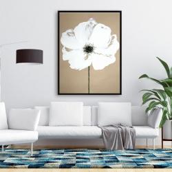 Framed 36 x 48 - Abstract color splash flower