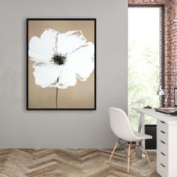 Framed 36 x 48 - Abstract color splash petals flower