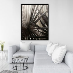 Framed 36 x 48 - Grayscale tropical plants
