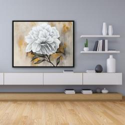 Framed 36 x 48 - White peony