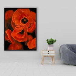 Framed 36 x 48 - Poppy bouquet