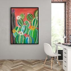 Framed 36 x 48 - Rainbow cactus