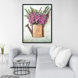 Framed 36 x 48 - Purple foxglove flowers