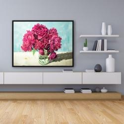 Framed 36 x 48 - Fuchsia peony