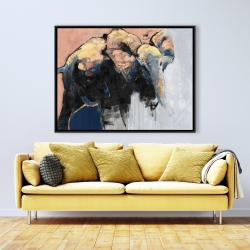Framed 36 x 48 - Abstract elephant