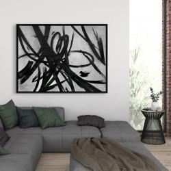 Framed 36 x 48 - Circular strokes