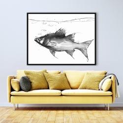 Framed 36 x 48 - Swimming fish