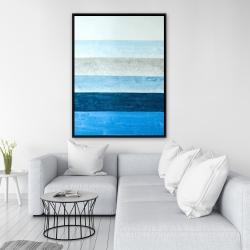 Framed 36 x 48 - Blue stripes