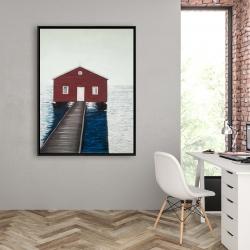 Framed 36 x 48 - Boathouse