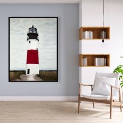Framed 36 x 48 - Sankaty head lighthouse