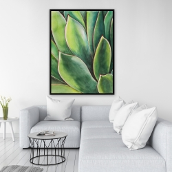 Framed 36 x 48 - Watercolor agave plant