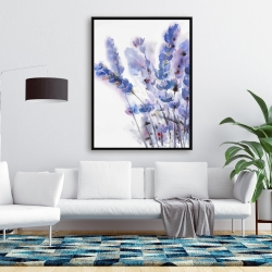 Framed 36 x 48 - Watercolor lavender flowers