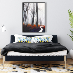 Framed 36 x 48 - Mysterious forest with stream