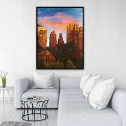 Framed 36 x 48 - Cathedral rock in arizona