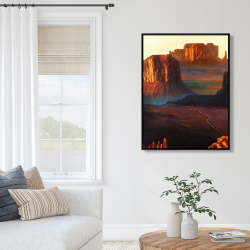 Framed 36 x 48 - Monument valley tribal park in arizona