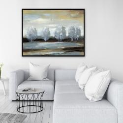Framed 36 x 48 - Grey landscape