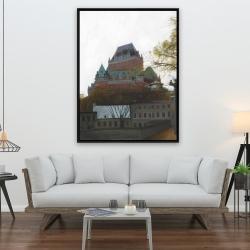 Framed 36 x 48 - Le château de frontenac in autumn