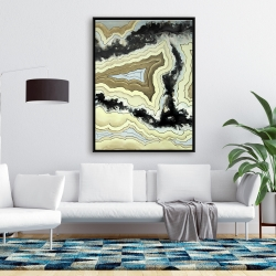 Framed 36 x 48 - Lace agate