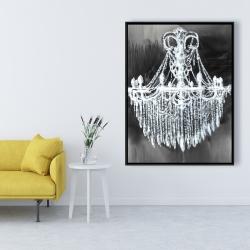 Framed 36 x 48 - Big glam chandelier