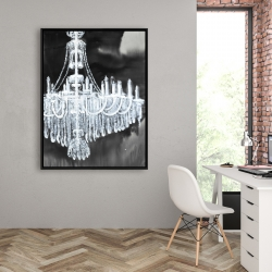 Framed 36 x 48 - Glam chandelier
