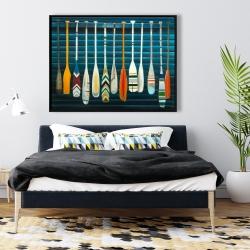 Framed 36 x 48 - Paddles