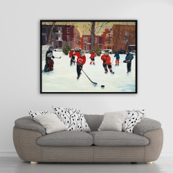 Framed 36 x 48 - Young hockey players