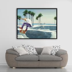 Framed 36 x 48 - Skate park california